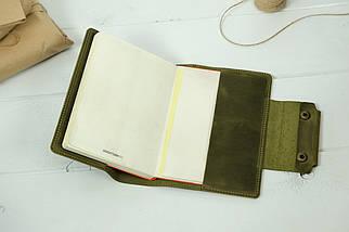 """Обложка для блокнота А5 """"Модель № 2"""", Винтажная кожа, цвет Оливковый, фото 3"""
