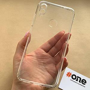 Чехол для Xiaomi Redmi Note 7 тонкий силиконовый с заглушками чехол на сяоми нот 7 прозрачный