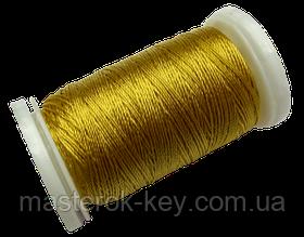 Нитка поліестер для ручного шиття і рукоділля dtex 233/3 колір Золотистий 2137