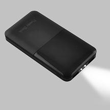Универсальный мобильный Power Bank JS-191 10000mAh Портативное зарядное устройство с дисплеем С фонариком, фото 3