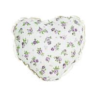 Подушка Прованс Lilac rose Сердце с кружевом 32х32см