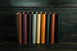 """Обкладинка для блокнота А5 """"Модель № 2"""", шкіра Grand, колір Шоколад, фото 3"""