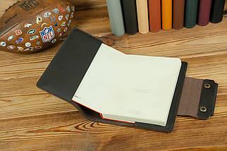 """Обкладинка для блокнота А5 """"Модель № 2"""", шкіра Grand, колір Шоколад, фото 2"""