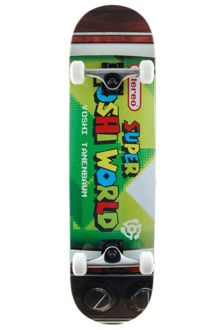"Скейт комплит Stereo Super Yoshi World (green/multicolor) 7.85"""