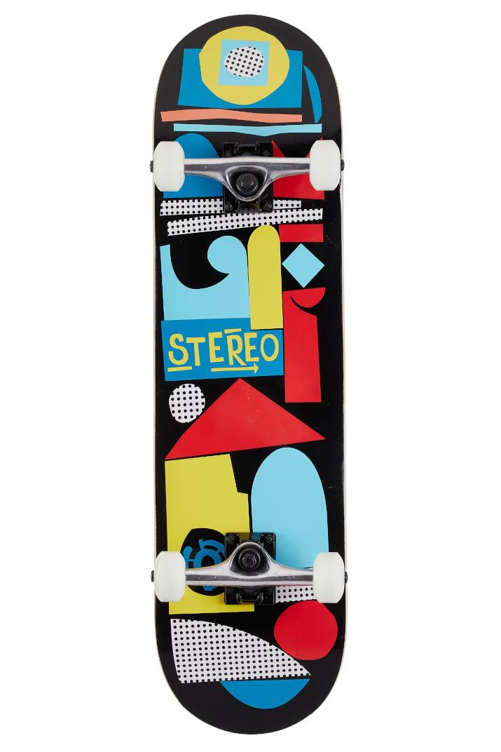 "Скейт комплит Stereo Team Collage (black/multicolor) 8.25"""