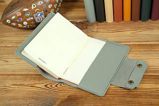 """Обкладинка для блокнота А5 """"Модель № 2"""", шкіра Grand, колір Сірий, фото 3"""