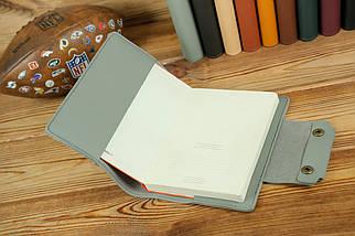 """Обкладинка для блокнота А5 """"Модель № 2"""", шкіра Grand, колір Сірий, фото 2"""