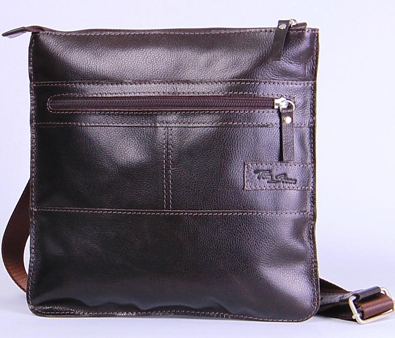 2b39a44d4ef9 Удобная мужская кожаная сумка на плечо Tom Stone 514BR коричневый ...