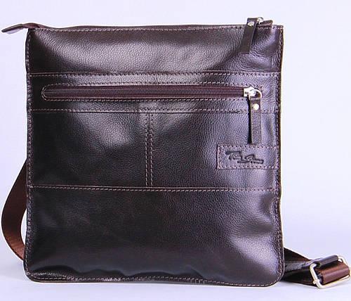 Удобная мужская кожаная сумка на плечо Tom Stone 514BR коричневый