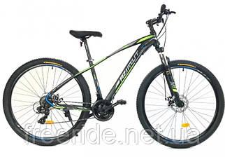 Подростковый велосипед Azimut Nevada 24 G-FR/D (15) черно-зеленый
