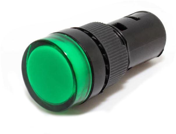 Світлодіодний індикатор AD22-22DS 12v AC/DC зелений