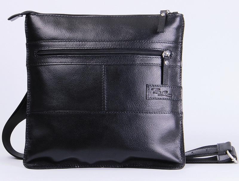 7c8ee30555c4 Мужская кожаная сумка на плечо Tom Stone 514B черный — только ...