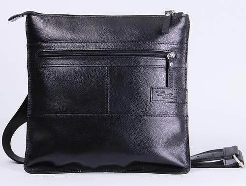 Удобная мужская кожаная сумка на плечо Tom Stone 514B черный