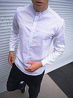 Рубашка мужская классическая белая. Базовая мужская рубашка белого цвета.