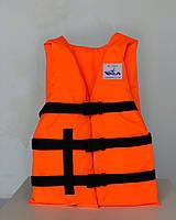 Спасательный страховочный жилет универсальный оранжевый
