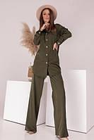 Стильный костюм женский брючный (Норма, Батал)