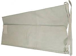 Нарукавники Profitech зварювальника кожа (спилок) на липучці з пряжками сірі 59 см