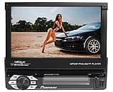 """Автомагнітола 1DIN Pioneer 7150G GPS виїзної екран 7"""" FullHD 4x60W КОРЕЯ, USB,AUX,Fm 240 ватт + пульт на КЕРМО, фото 2"""