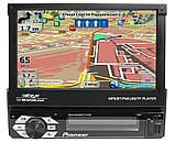 """Автомагнітола 1DIN Pioneer 7150G GPS виїзної екран 7"""" FullHD 4x60W КОРЕЯ, USB,AUX,Fm 240 ватт + пульт на КЕРМО, фото 3"""