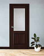 Міжкімнатні двері шпоновані зі склом, міжкімнатні двері в шпоні ,двері із шпону