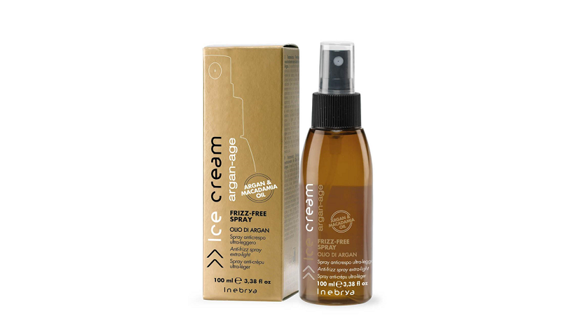 INEBRYA ARGAN AGE ультра легкий спрей против вьющихся волос с маслом аргана и макадамии 100 мл.