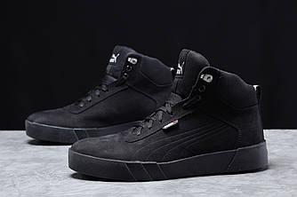 Зимние мужские кроссовки 31693, Puma Desierto Sneaker, черные, [ 42 43 ] р. 42-27,6см.