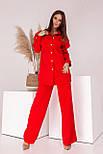 Модный костюм женский с брюками-трубами, фото 4