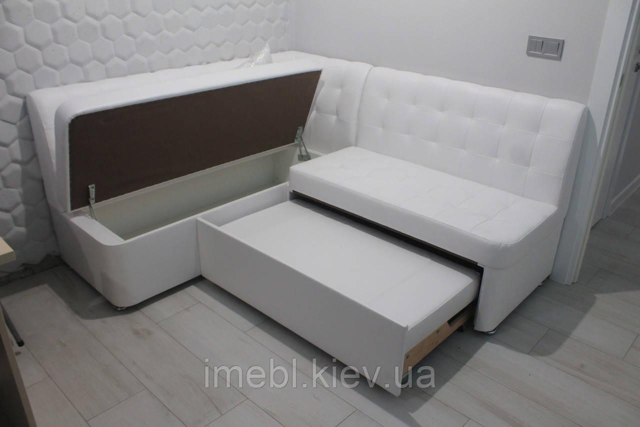 Кухонний диван зі спальним місцем (Білий)