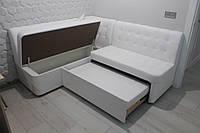 Кухонний диван зі спальним місцем (Білий), фото 1