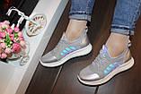 Кросівки жіночі сірі Т1284, фото 4