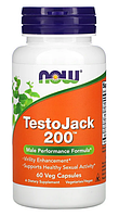 Препарат для сексуальной активности TestoJack 200 Now Foods - 60 веган капс