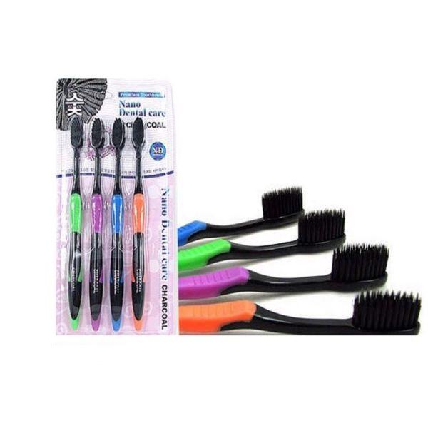 Набор зубных щеток с бамбуковым углем Toothbrush Nano Dental Care Charcoal