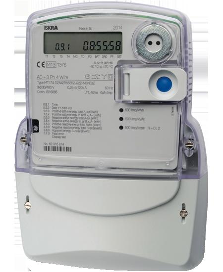 Лічильник електроенергії Iskra MT174-D1 5-85А 3*230/400В А±R±, багатофункціональний
