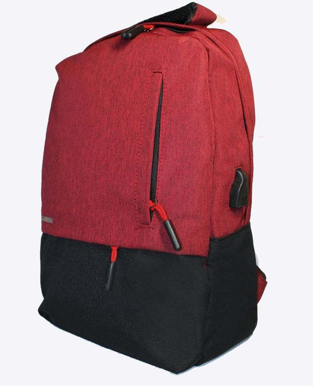 Сучасний рюкзак для ноутбука на одне відділення з USB+кабель в комплекті Caimeng Різні кольори