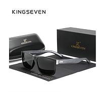Брендовые солнцезащитные очки вэйфареры (Wayfarer) с поляризованными линзами N752 KINGSEVEN Италия
