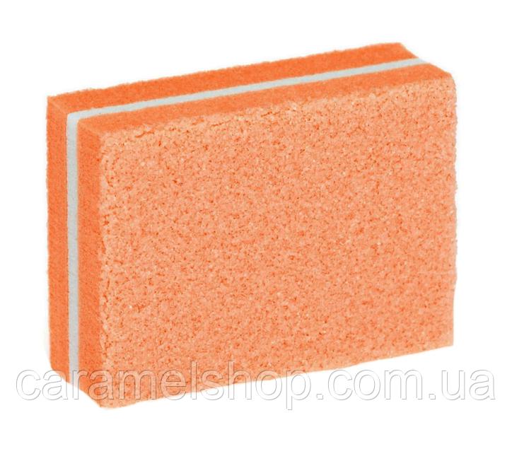 Баф мини для маникюра 100/180 грит оранжевый