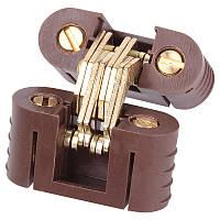 Петля для складных столов метал+пластик коричневая,31х12мм,180*. Siso