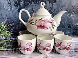 Набор чайный Керамклуб из 7 предметов заварник 1 л и 6 чашек 210 мл