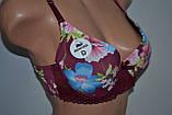 Бюстгальтер Benfish квіткова расподия Бордовий, фото 2