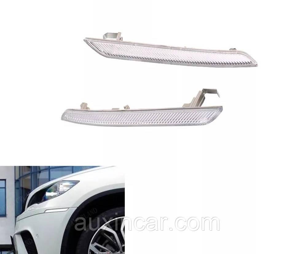 Прозорий катафот / відбивач ЛІВО і ПРАВО для BMW X5 E70 sport, X6 E71, E72