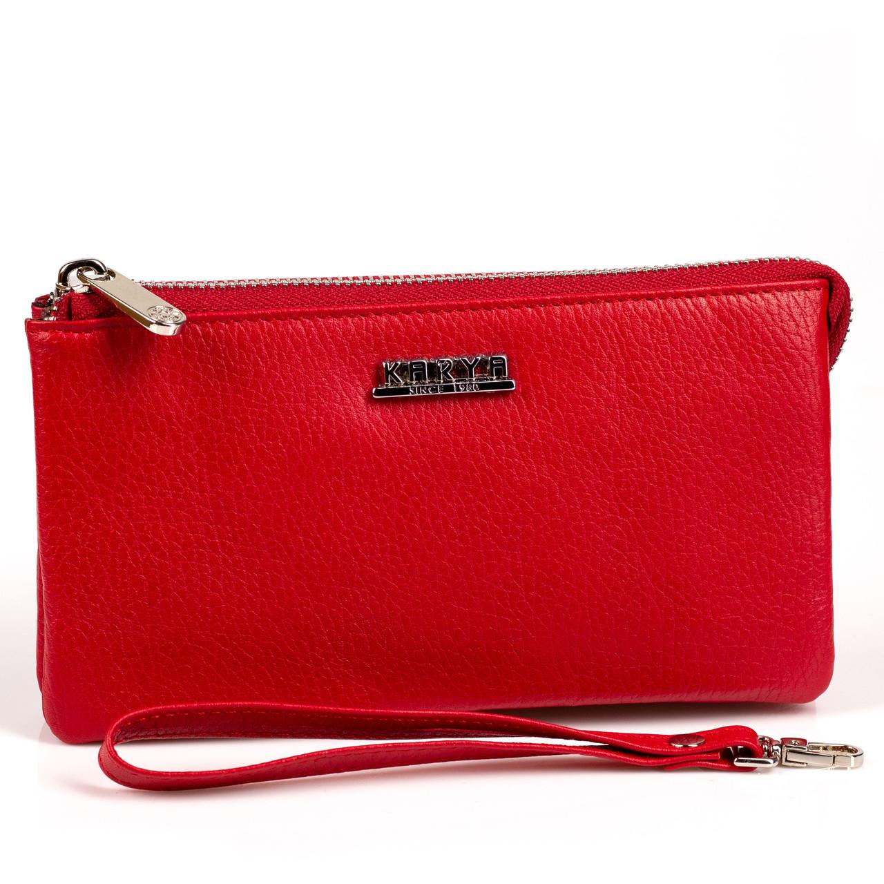 Жіночий гаманець Karya 1075-46 з м'якої шкіри червоний