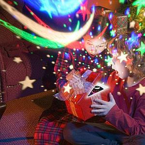 Вращающийся ночник проектор звездного неба Star Master Dream с пультом детский домашний планетарий