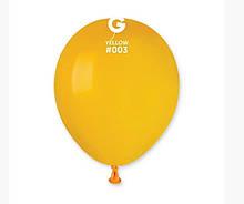 """Латексна кулька пастель темний жовтий 5"""" / 03 / 13см Yellow"""