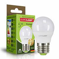 Светодиодная EUROLAMP LED Лампа ЕКО G45 5W E27 3000K