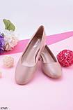 Туфли женские бежевые/ пудровые каблук 4 см эко-кожа, фото 2