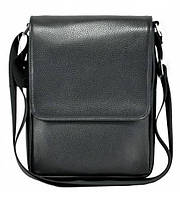 Мужская сумка кожаная черная, фото 1