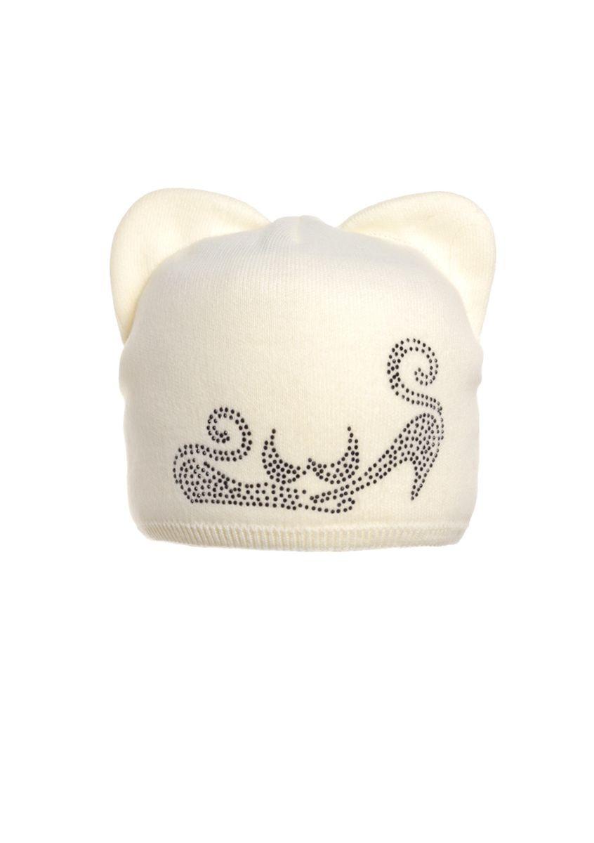 Милая забавная зимняя шапка, украшенная бусинами с ушками.