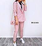 Женский костюм батал, лён - габардин, р-р 48-50 (розовый), фото 2