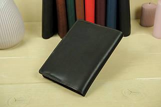 """Обкладинка для блокнот А5 """"Модель № 1"""" Шкіра Італійський краст колір Кави, фото 2"""