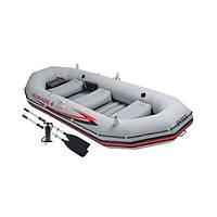 Лодка надувная четырехместная Intex Mariner 4 Set 68376